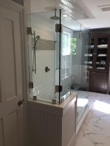 Multiple Panel Custom Shower Enclosure w/ Clips