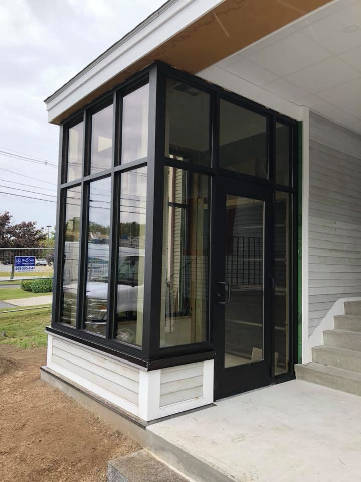 Commercial Fronts And Entry Doors, Glass Vestibule Entry