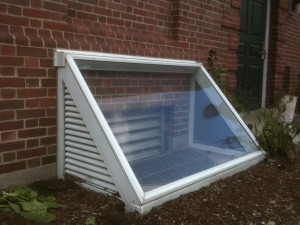 Sub-Level Window Well Storm Cover